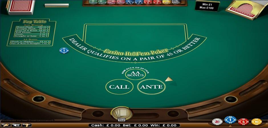 casino hold'em online
