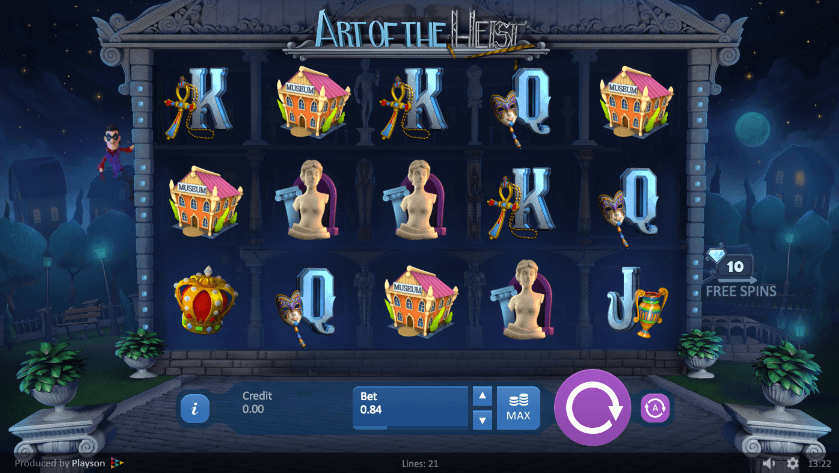 art of the heist slots