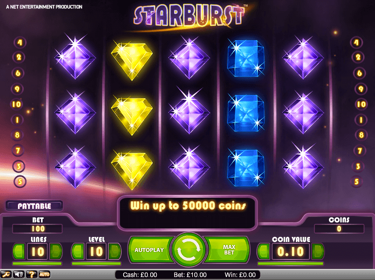 Starburst Slots at Lucky Admiral