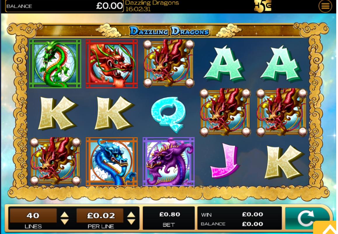 dazzling dragos slots